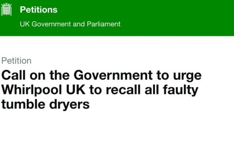 Parliament will not debate fire-risk dryers petition