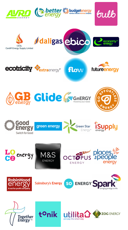 Table showing that no other energy companies have published their plan to move customers off SVTs.