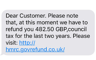Council tax refund scam